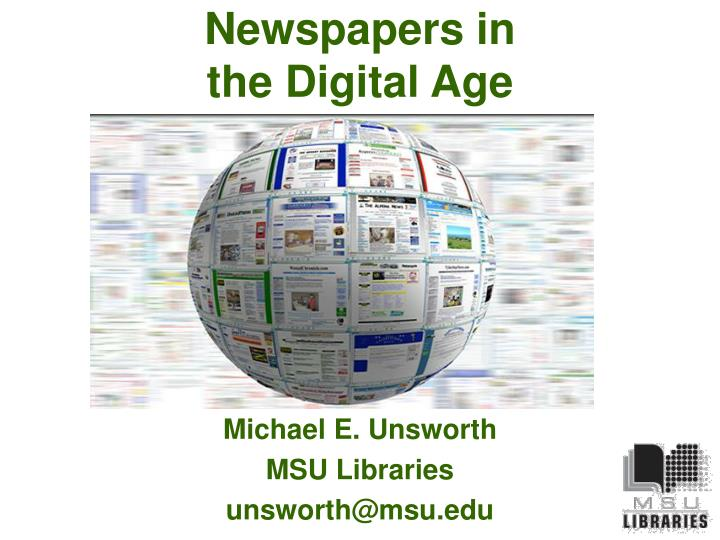 Newspapers in the digital age