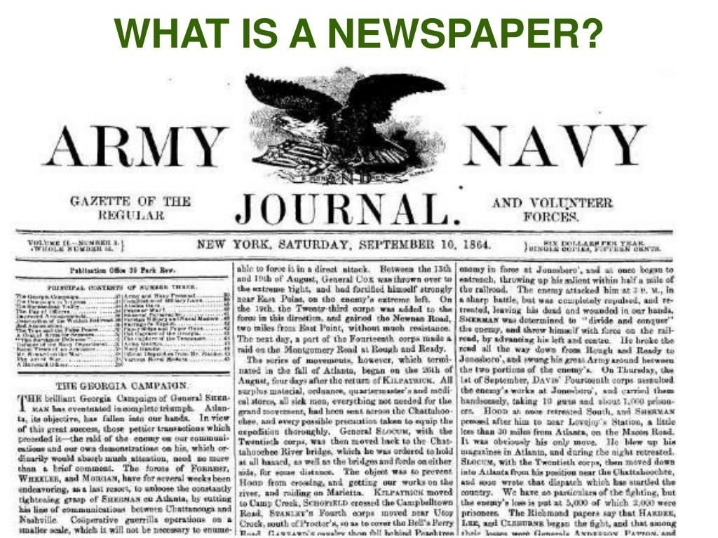WHAT IS A NEWSPAPER?