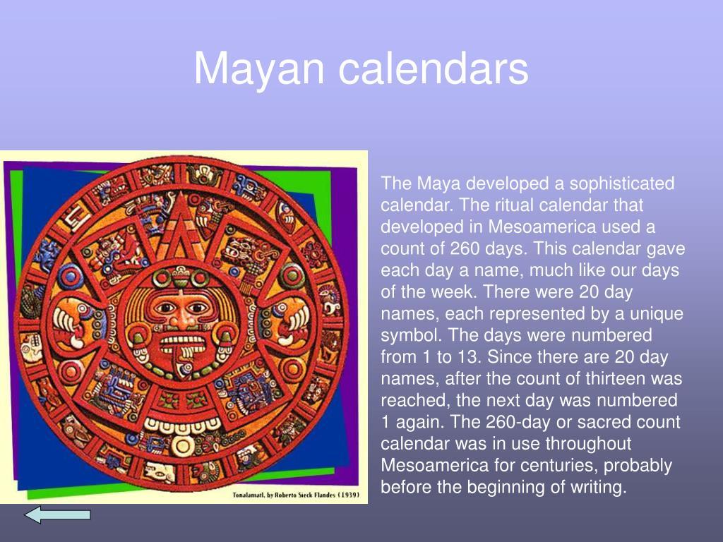 Mayan calendars