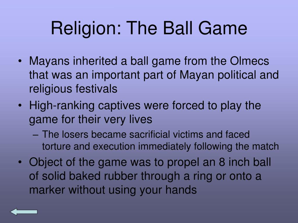 Religion: The Ball Game