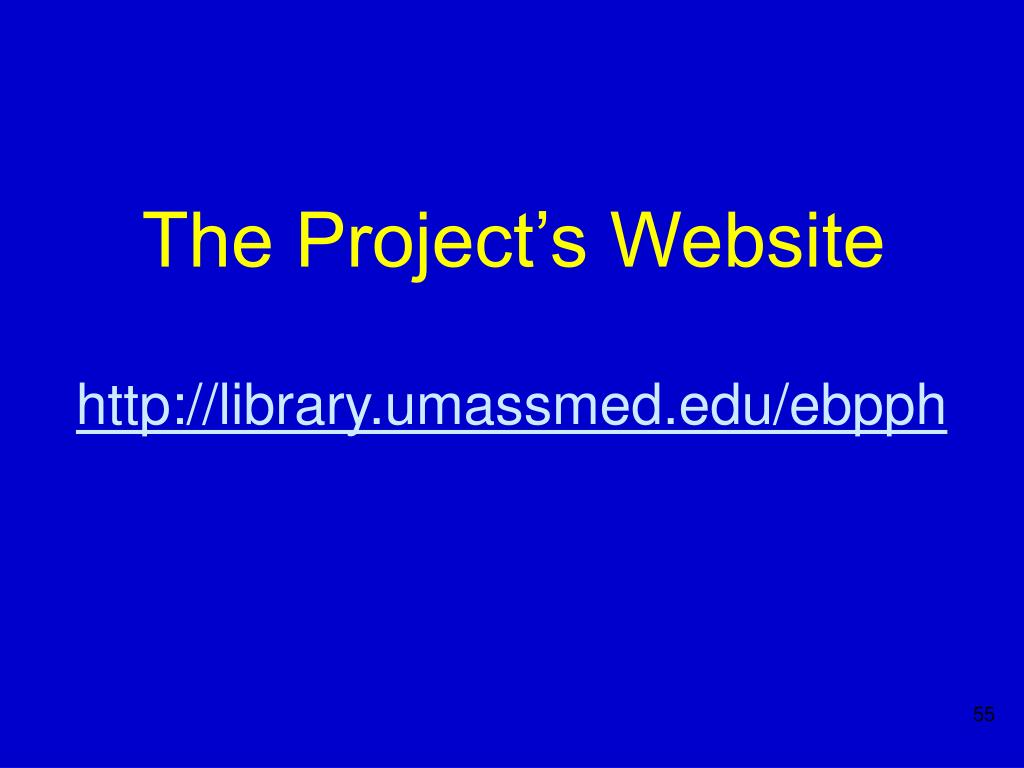The Project's Website