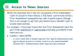 ii access to news sources