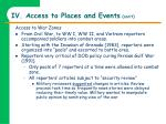 iv access to places and events con t