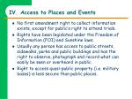iv access to places and events