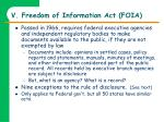 v freedom of information act foia