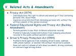 v related acts amendments