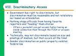 vii discriminatory access