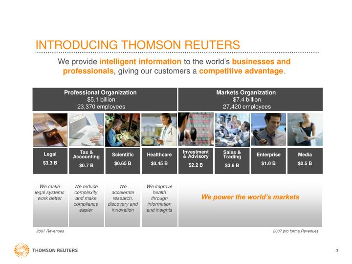 Introducing thomson reuters