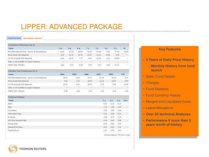 LIPPER: ADVANCED PACKAGE