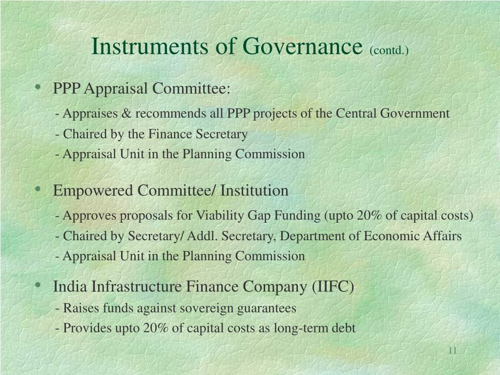 Instruments of Governance