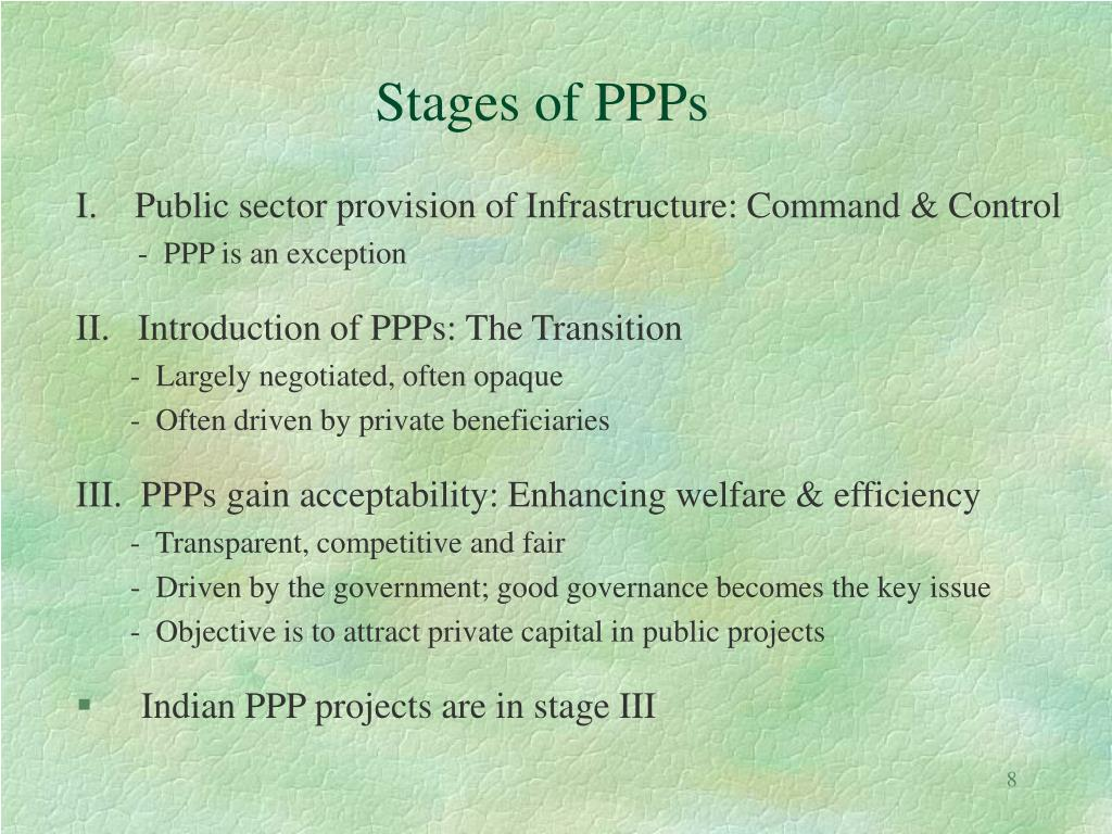 Stages of PPPs