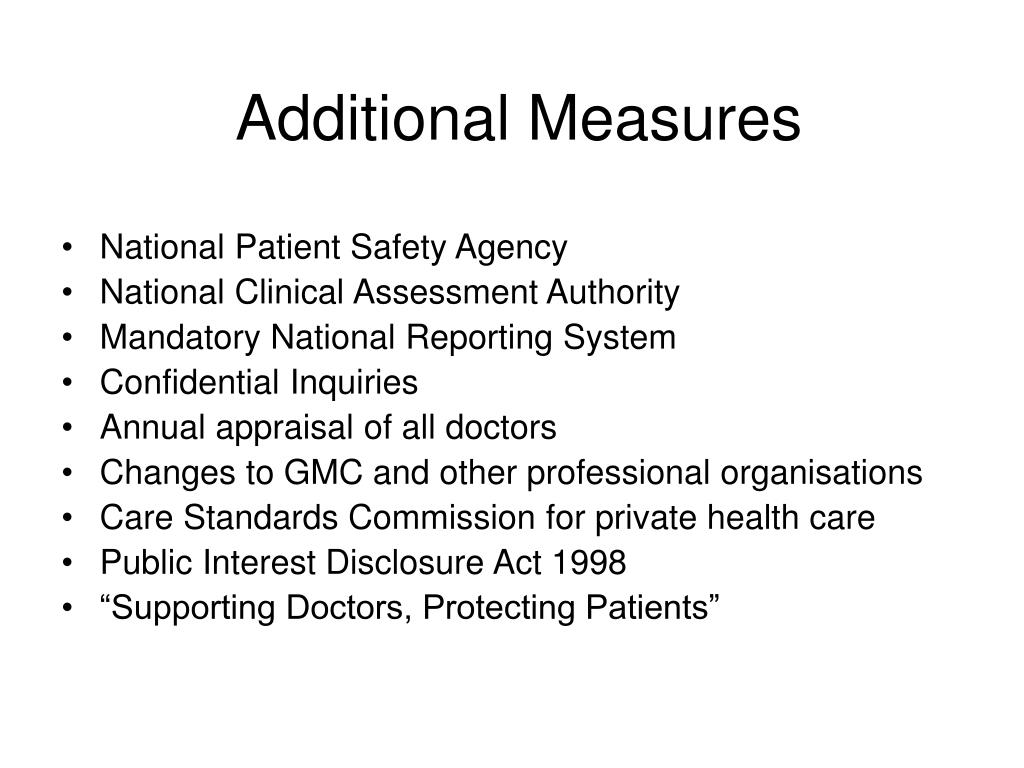 Additional Measures