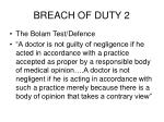 breach of duty 2