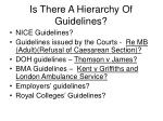 is there a hierarchy of guidelines