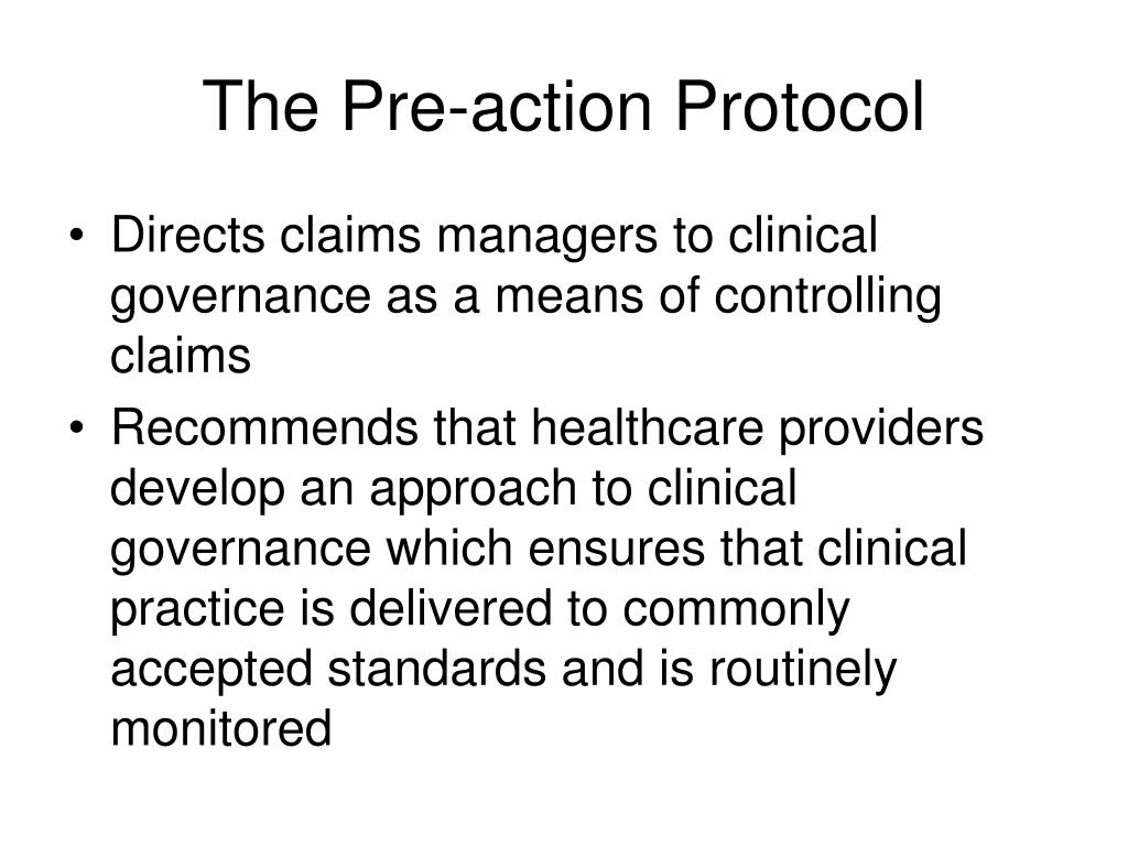 The Pre-action Protocol