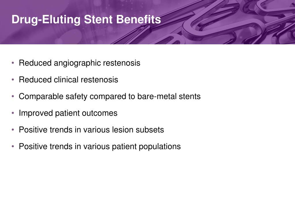 Drug-Eluting Stent Benefits