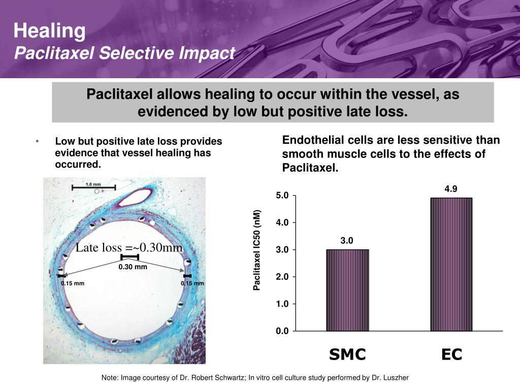 Low but positive late loss provides evidence that vessel healing has occurred.