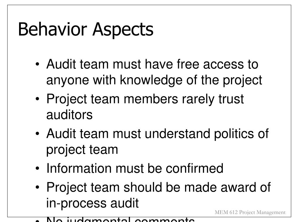 Behavior Aspects
