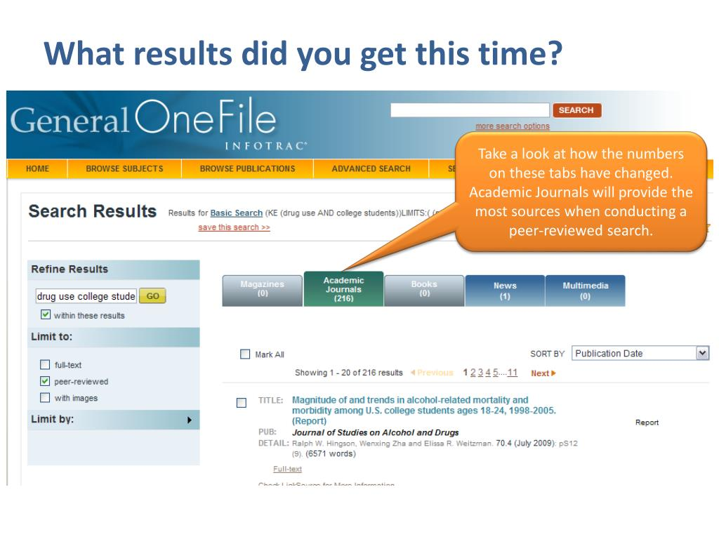 What results did you get this time?