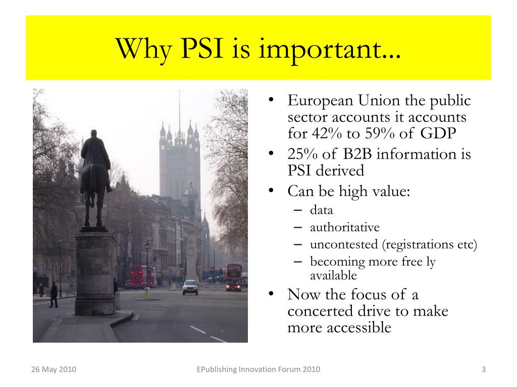 Why PSI is important...