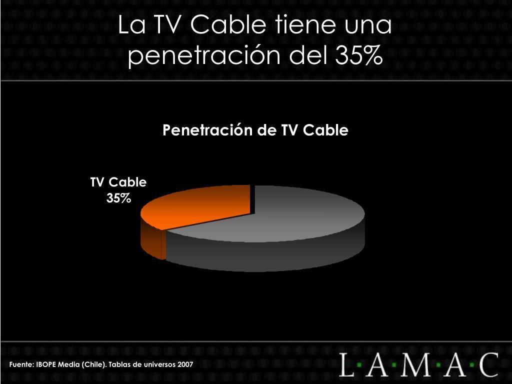 La TV Cable tiene una penetración del 35%