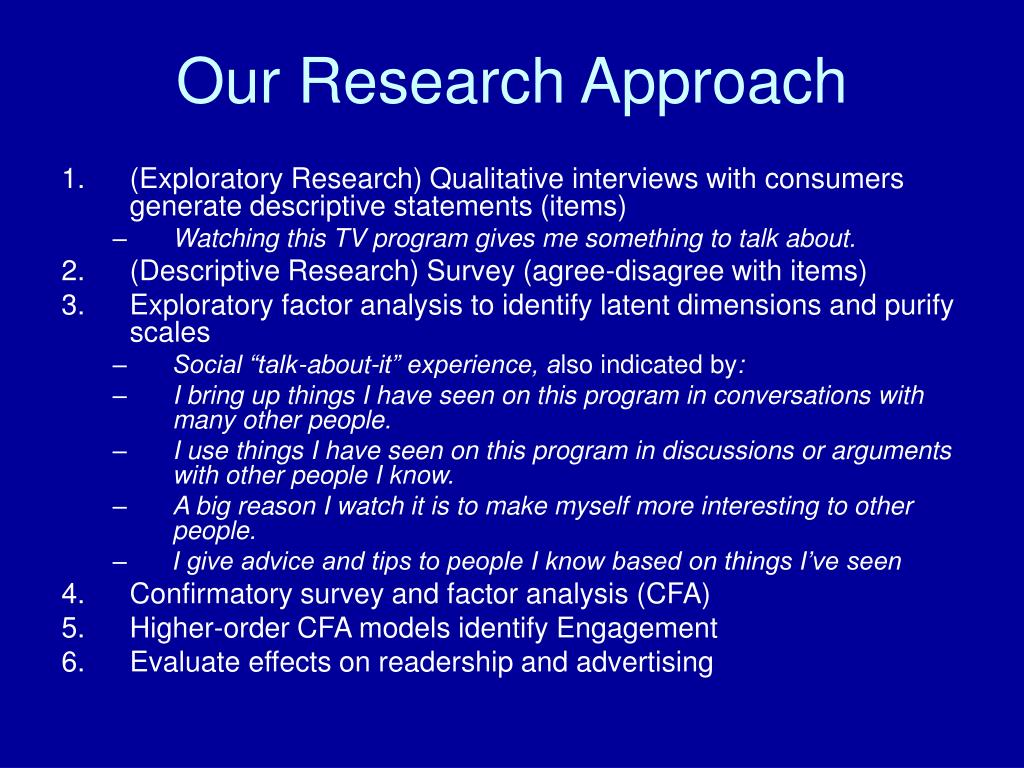 Our Research Approach