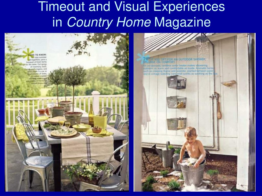Timeout and Visual Experiences