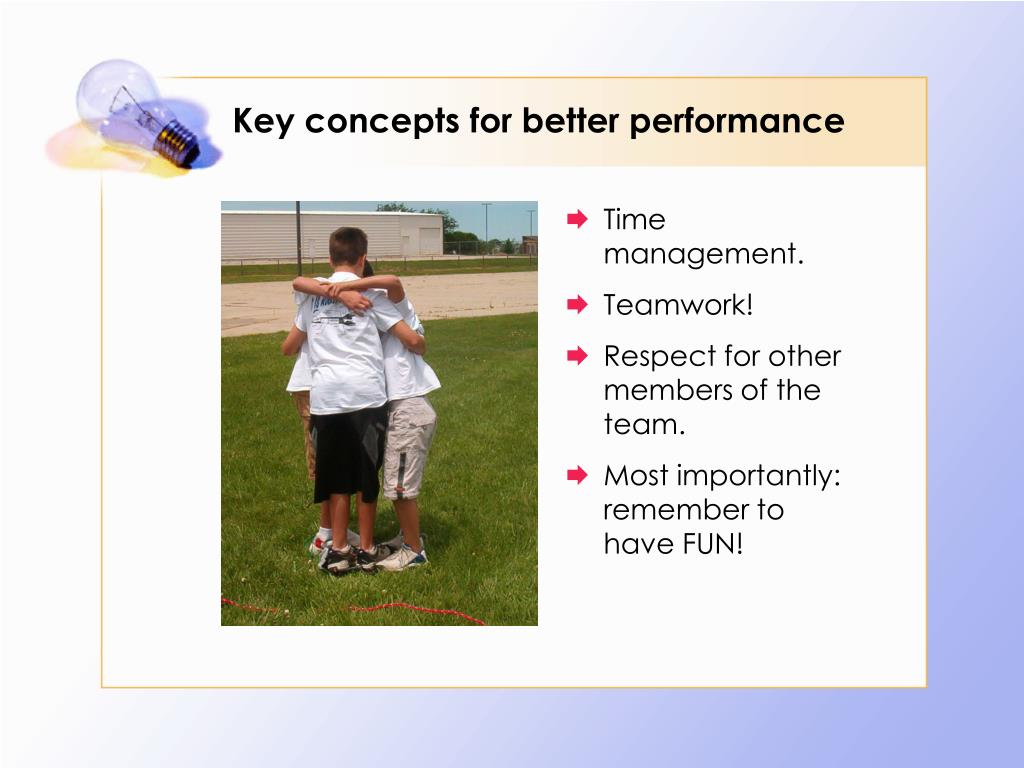 Key concepts for better performance