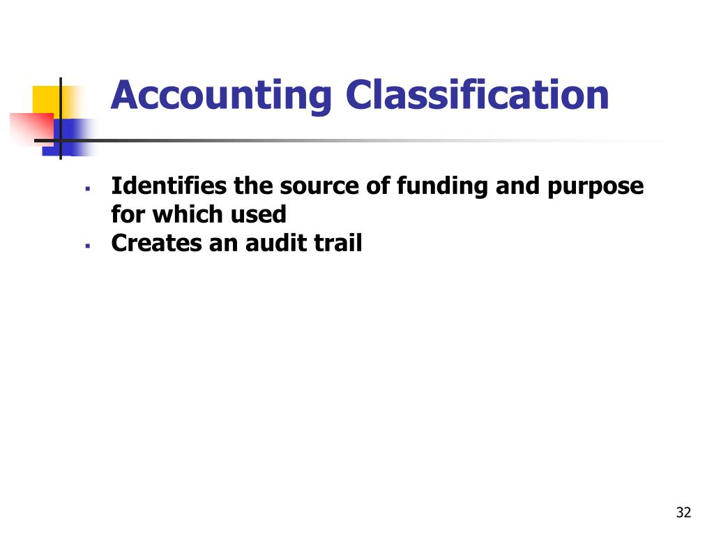 Accounting Classification