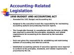 accounting related legislation8