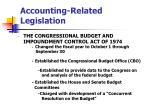accounting related legislation9