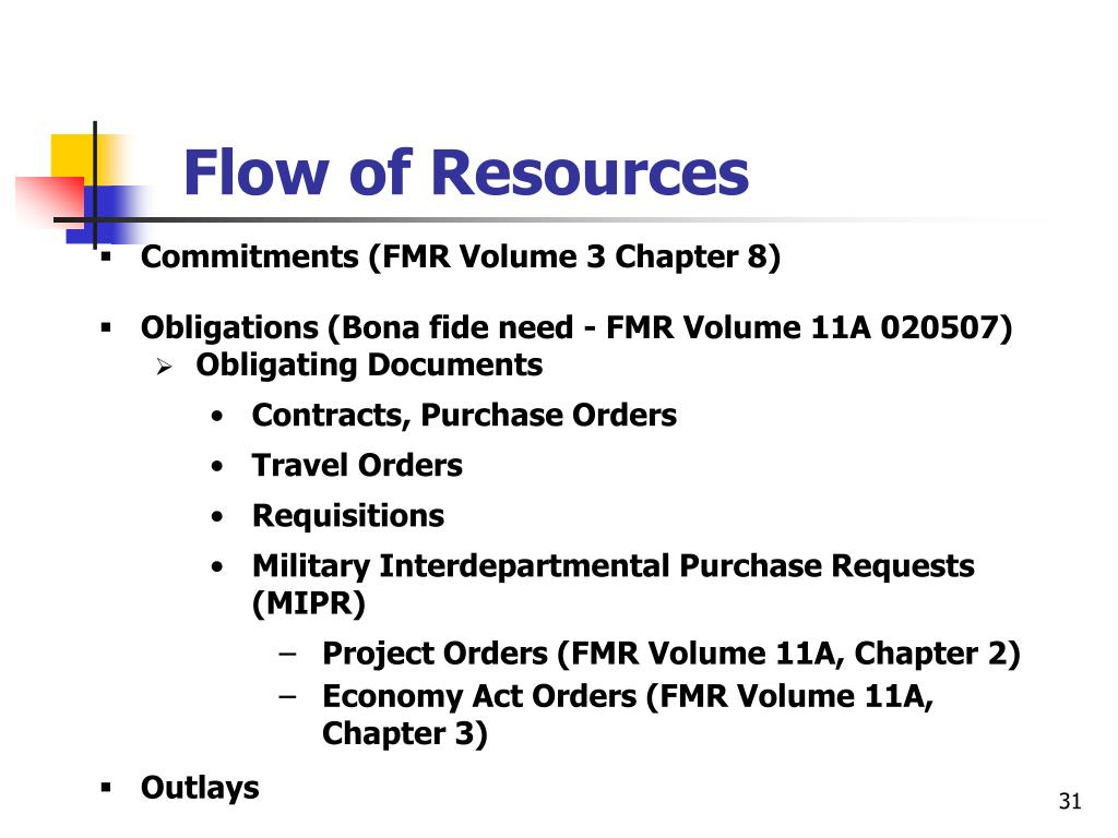 Flow of Resources