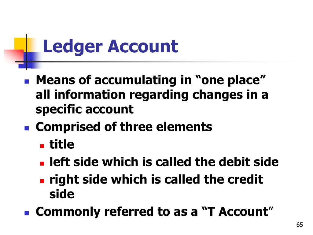 Ledger Account