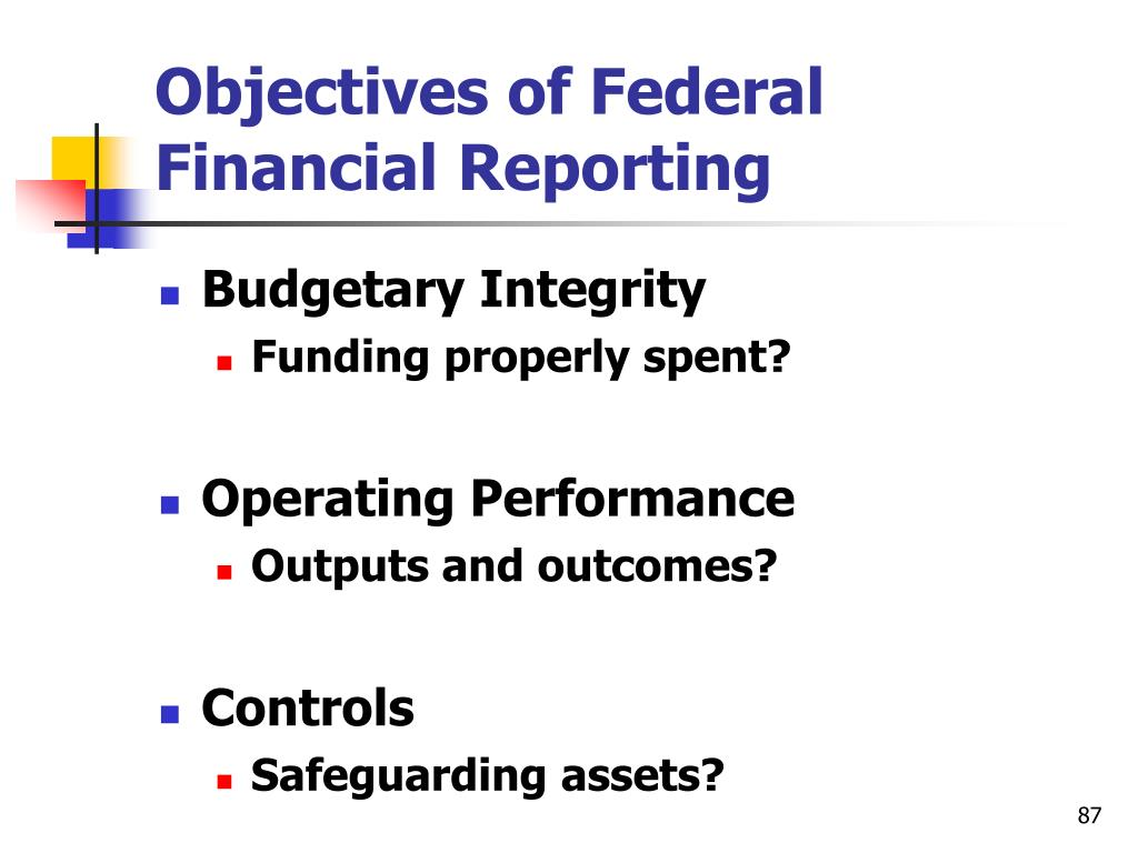 Objectives of Federal Financial Reporting