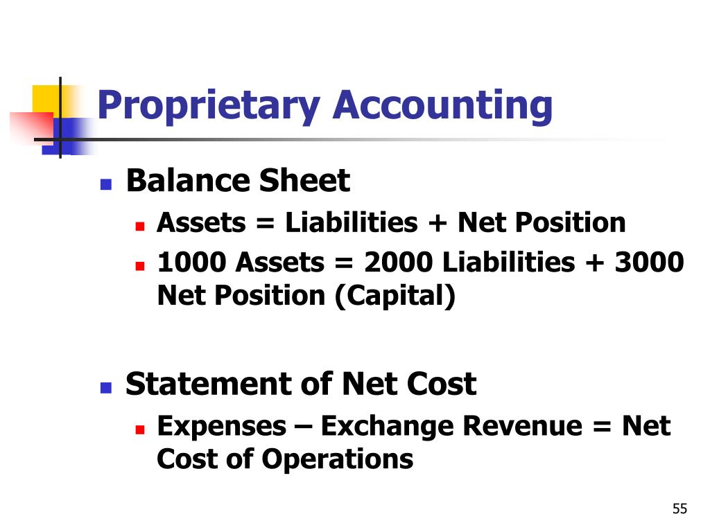Proprietary Accounting