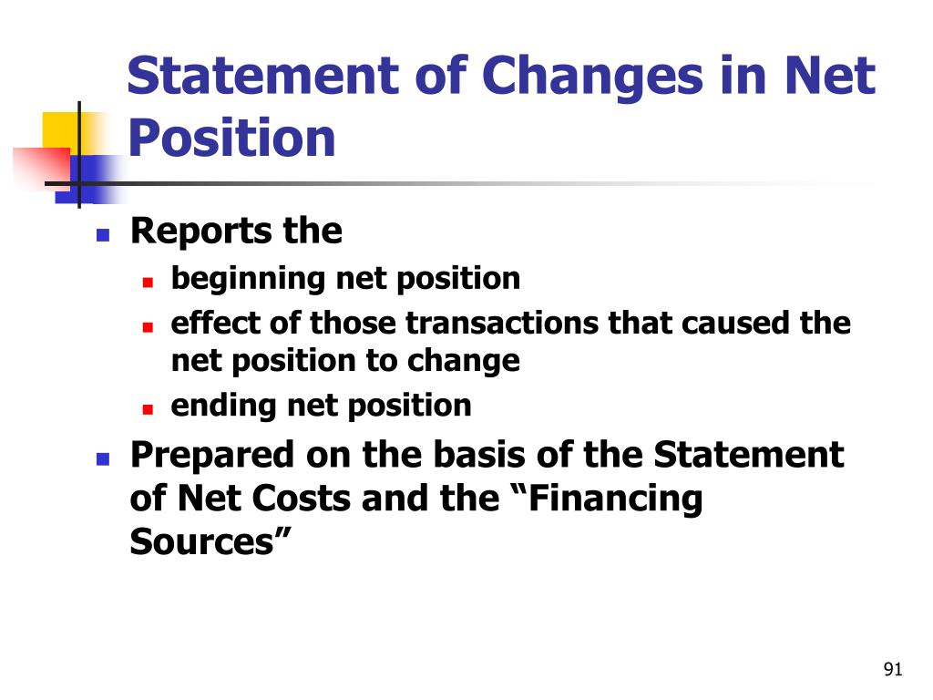 Statement of Changes in Net Position