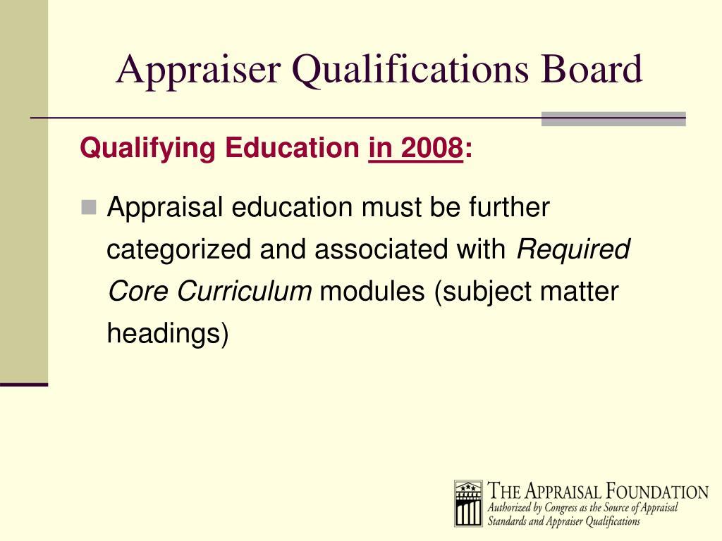Appraiser Qualifications Board