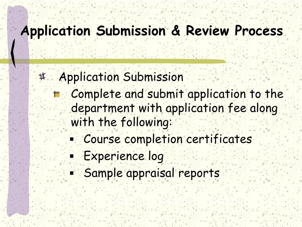 Application Submission & Review Process