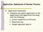 application submission review process