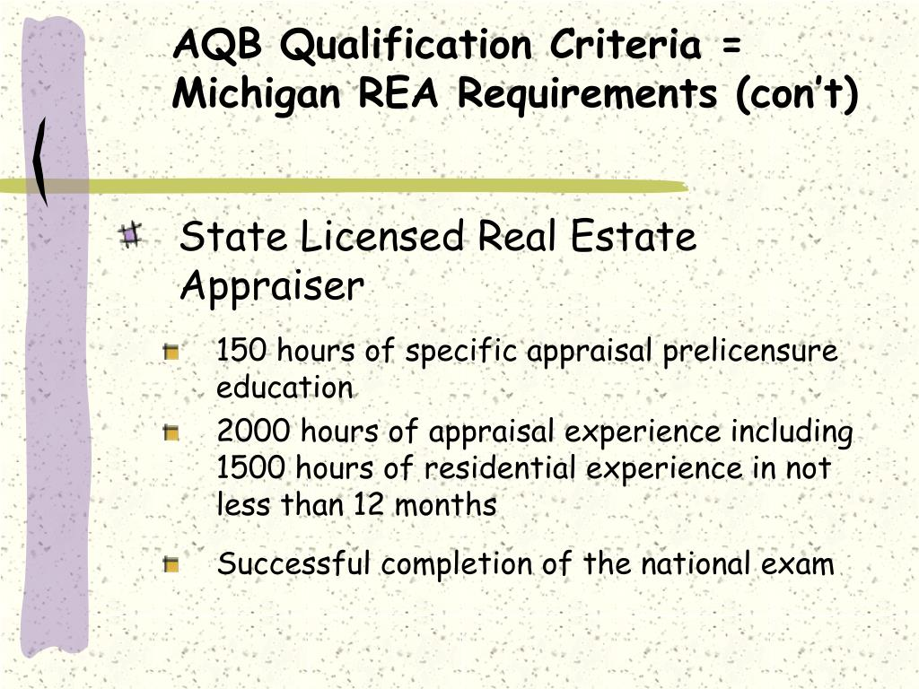 AQB Qualification Criteria =
