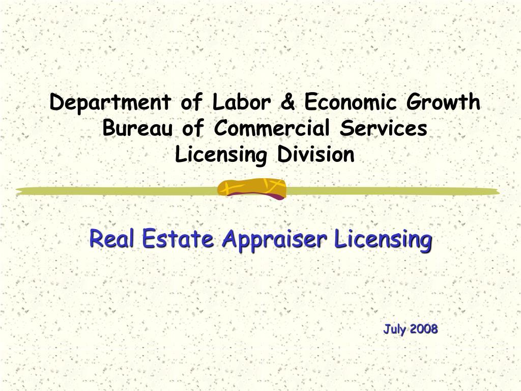 Department of Labor & Economic Growth