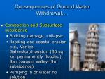 consequences of ground water withdrawal18