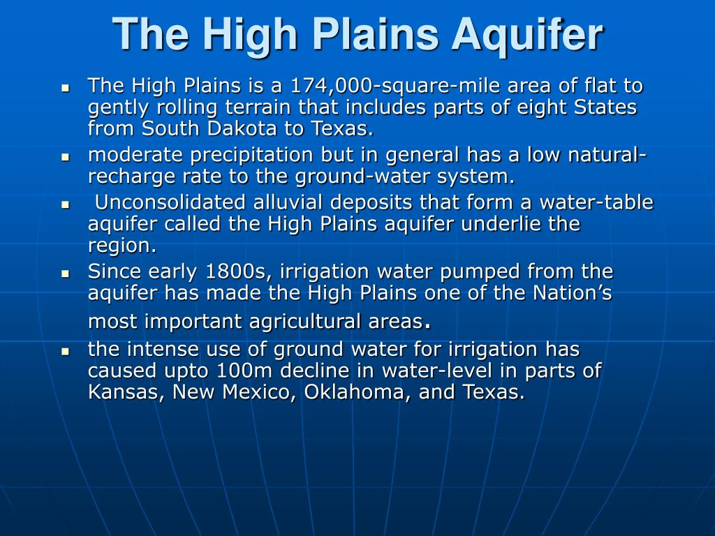 The High Plains Aquifer