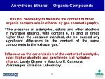 anhydrous ethanol organic compounds