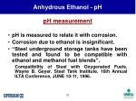anhydrous ethanol ph