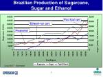 brazilian production of sugarcane sugar and ethanol