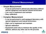 ethanol measurement