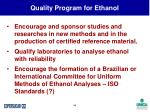 quality program for ethanol44