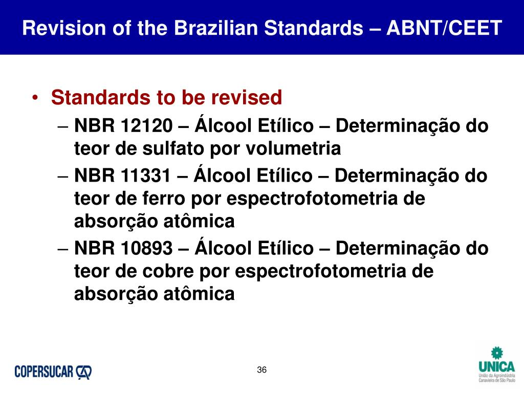 Revision of the Brazilian Standards – ABNT/CEET