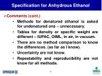 specification for anhydrous ethanol21